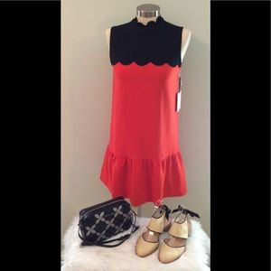 Victoria Beckham for Target orange and black dress